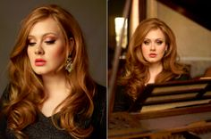 Adele's hair and makeup looks stunning gorgeous <3