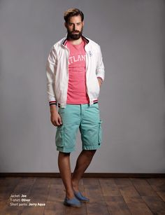 Jacket: Joe T-Shirt: Oliver Short Pants: Jerry Aqua  Discover Men's collection at www.staff-jeans.com/look-book-men/