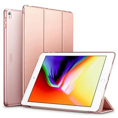 ESR iPad Pro 10.5 Case, Lightweight/Pretty Color/Perfect Fit Smart Trifold Stand Case with Frosted Semi Transparent Plastic Back Cover for iPad Pro 10.5 inch 2017 Released (Rose Gold) #iPad #Case, #Lightweight/Pretty #Color/Perfect #Smart #Trifold #Stand #Case #with #Frosted #Semi #Transparent #Plastic #Back #Cover #inch #Released #(Rose #Gold)