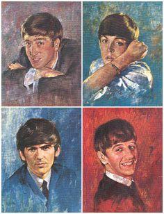 The Beatles {artist undetermined} Les Beatles, Beatles Art, Beatles Photos, Ringo Starr, George Harrison, Paul Mccartney, John Lennon, Great Bands, Cool Bands