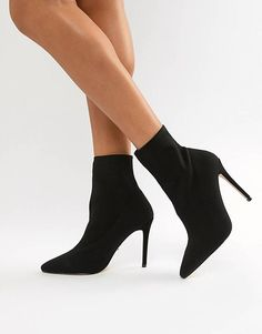 Shop Lipsy knitted sock boot at ASOS. Boots For Short Women, Womens Boots On Sale, Sneakers Fashion, Fashion Shoes, Frauen In High Heels, Next Shoes, Black Lace Lingerie, Monochrome Fashion, New Fashion Trends