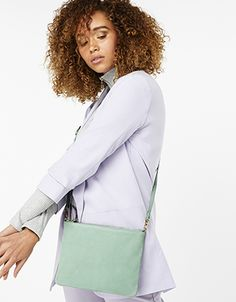 Accessorize | Claudia Pastel Leather Cross Body Bag | Green | One Size | 4908963000