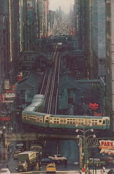 Chicago El, 1960s - I remember taking it for the first time when my Dad took us downtown to see Jerry Lewis live in the theater when I was a kid.  -  Ken