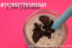 Easy and Simple Oreo Shakes  http://www.home-everyday.com/2014/01/thirsty-thursday-oreo-shake.html