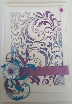 Hello I wanted to experiment with my new Sizzix mixed media dies and make a card to thank a friend who has been very helpful. This is wha...