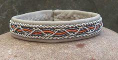 Grey and Tan Swedish Sami Bracelet by spiritofthenorth on Etsy, $59.00