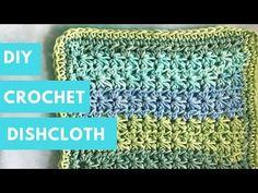 Crochet Dishcloth Tutorial || Star Stitch Tutorial || Beginner - YouTube