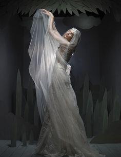 Wedding dresses CONTEMPORARY PRINCESS DIORAMA Fall 2016 Collection - Ersa Atelier, Contemporary Dresses, Fall Wedding Dresses, Bridal Looks, Fall 2016, Dressmaking, Diorama, Veil, High Fashion