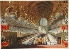 The Royal Banquet, First Course, from an album celebrating the Coronation of King George IV (1762-1830) 19th July 1821, engraved by William James Bennett (1787-1844) published 1824 - Charles Wild