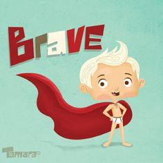 Brave Boy by Tamara Henderson, via Behance