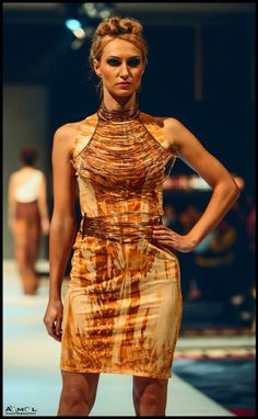 India fashion week  Rusted things can also be of some use  Rust print ....  Wired accessories ..