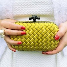 Woven sophistication. @bottegaveneta #regram @luziehtan. Link in bio to shop. #NMhandbags
