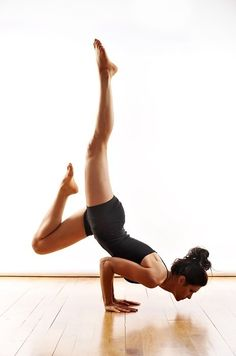 a challenging arm balance that's actually all about the core