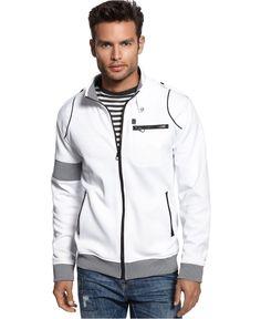 Marc Ecko Cut & Sew Jacket, Arm Band Full Zip Track Jacket