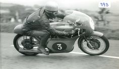 Early 60's at the Ulster Grand Prix. Gary Hocking on the 350 MV Augusta.