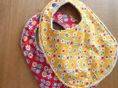 Beautiful Bibs Set of 2 in Yellow/Red  Towel Backed by YumyumHome, £12.00