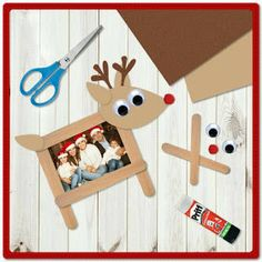 DIY Christmas Gifts for Dads on a Budget – Shadow Boxes – Kl.- DIY Christmas Gifts for Dads on a Budget – Shadow Boxes – Kleinigkeiten Weihnachten – Diy Christmas Gifts For Dad, Christmas Ornament Crafts, Craft Stick Crafts, Kids Christmas, Holiday Crafts, Christmas Decorations, Student Christmas Gifts, Christmas Budget, Reindeer Photo