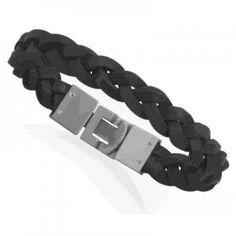 Braided Black Leather Bracelet ~ $19.95!!  http://salernosjewelrystore11.ecrater.com/p/9746441/braided-black-leather-bracelet