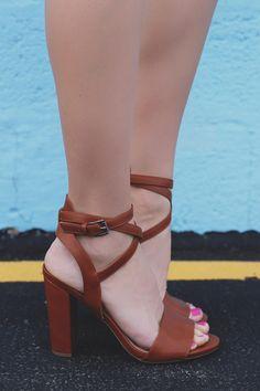 Vegan Leather Toe Strap Wrap Ankle Block Heel Morris-10