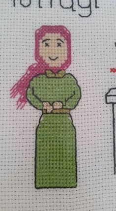 T.T Stitch Character, Needlepoint, Elsa, Diy And Crafts, Hello Kitty, Applique, Cross Stitch, Embroidery, Fictional Characters