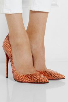 Christian Louboutin | So Kate 120 watersnake pumps | net-a-por...
