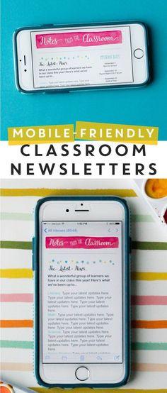 School Newsletter Templates Free Fresh Classroom Newsletters and Mailchimp Class Newsletter, Online Newsletter, Classroom Newsletter Template, Newsletter Templates, Weekly Newsletter, Templates Free, Classroom Websites, Classroom Ideas, Future Classroom
