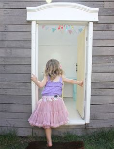 Little Girl Playing House