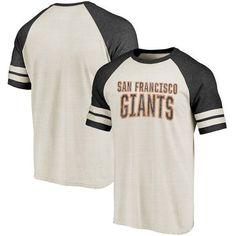 San Francisco Giants Fanatics Branded True Classics Colorblock Raglan T-Shirt - Cream/Black - $34.99