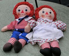 For the Nursery Raggedy Ann and Andy Ships Free by DustandRuffles, $24.95
