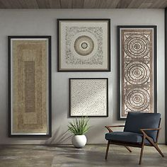 Handcrafted Paper Gallery Set at Crate and Barrel Canada. Discover unique furniture and decor from across the globe to create a look you love. Crate And Barrel, Fabric Wall Panels, Framed Fabric Wall Art, Wall Art, Wood Wall Art, Framed Fabric, Wall Prints, Paper Wall Art, Metal Wall Art
