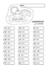 Sčítavanie a odčítavanie do 20 - Nasedeticky. Kids Study, Homeschool, Classroom, Teaching, Education, Math, Blog, Class Room, Math Resources
