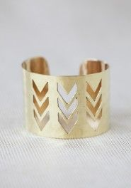 chevron designs cuff