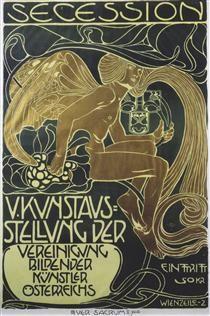 Koloman Moser. Poster of five art exhibition of the Association of Austrian…