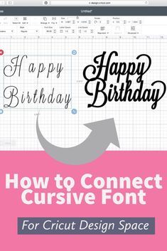 Learn a quick and easy way to connect script font in cricut design space. Watch this video tutorial to find out how to connect cursive font in cricut design space.