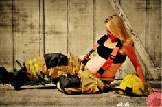 Firefighter Mom Expecting A Baby. # pregnancy  photo #mommy to be