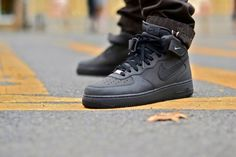 Nike Air Force 1 Mid - Dark Charcoal/Black Via: Tenisufki.eu