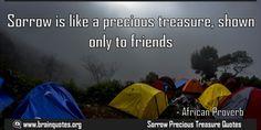 Sad Quotes about sorrow is precious treasure