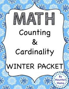 Math Practice Kindergarten Counting and Cardinality