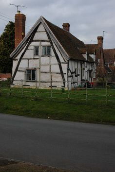 A half timbered house in Worcestershire, GR SO961453, framed with a full cruck