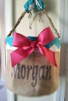 Chevron Personalized Easter Basket