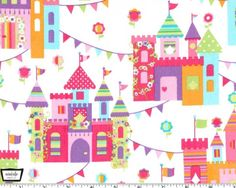 Princess Charminig  Castle Town from Michael Miller by JAQSFabrics