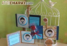 Tarjetas Comunión con imán  www.atutichapas.com
