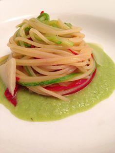 Barilla con zucchini e peperoncino