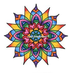 Mandala Vibrations Fine Art Giclee Print by Lydiasdrawingboard, $22.00