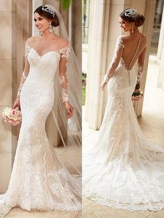 Cheap dress school, Buy Quality dress lining directly from China gowns for little girls Suppliers: Long Sleeves Lace Mermaid Wedding Dresses 2016 Romantic Vestido De Noiva Sexy Backless Bridal Wedding Gown Robe de Mariage Wedding Dress Low Back, 2016 Wedding Dresses, Lace Mermaid Wedding Dress, Backless Wedding, Mermaid Dresses, Bridal Dresses, Dresses 2016, Lace Wedding, Dresses Dresses