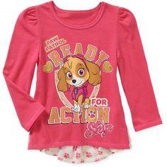 Paw Patrol Baby Toddler Girl Hi-Lo Fashion Long Sleeve Tee