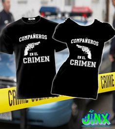 $299.00 2 Playeras Para Pareja Compañeros en el Crimen - Jinx