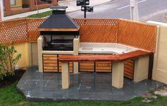 Grill Design, Patio Design, Outdoor Tables, Outdoor Spaces, Outdoor Decor, Diy Patio, Backyard Patio, Outside Living, Outdoor Living