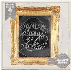 Chalkboard Art | ... rhonna s own handlettered chalkboard art specially for valentines kit