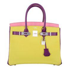 fake birkin bags for sale - HERMES BIRKIN 35 bag tri color special order Vert Anis Rouge ...